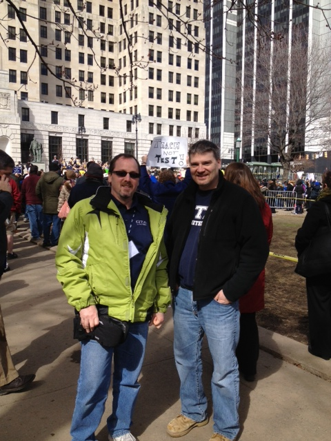 Brian Casey and Dave Metzger in Albany