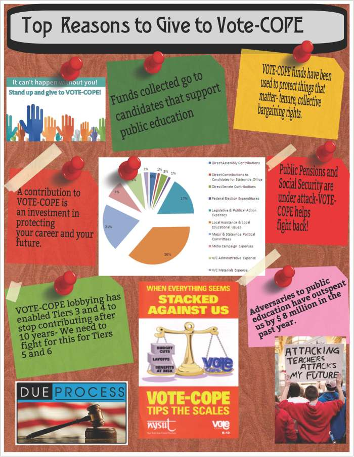 Top Reasons to Give to VOTE COPE