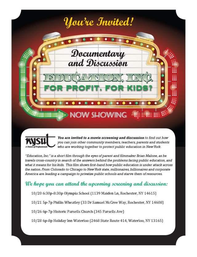 ROC Area Education Inc  Flyer